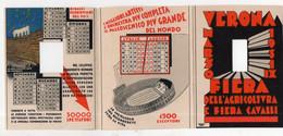 Verona-Vérone  (Italie) Calendrier Dépliant 1931 ARENA SPETTACOLI LIRICI  (PPP28137) - Small : 1921-40