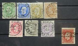 BELGIE  1869   Nr. 30 - 37   Leopold II     Centraal Gestempeld       CW  974,00 - 1869-1883 Leopold II