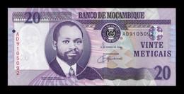 Mozambique 20 Meticais 2006 Pick 143 SC UNC - Mozambique