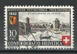 SBK B15, Mi 408 O Zst. 15.2.01 Rand Rechts Eingebuchtet - Errors & Oddities
