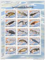 X] Feuillet** Sheet ** Burundi Poissons Fishes 2009 - 2000-09: Neufs