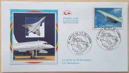 FDC 2002 - YT N°3471 - LE SIECLE AU FIL DU TIMBRE / TRANSPORTS / CONCORDE - PARIS - 2000-2009