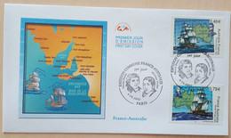 FDC 2002 - YT N°3476, 3477 - FRANCE AUSTRALIE / NICOLAS BAUDIN / MATTHEW FLINDERS - PARIS - 2000-2009
