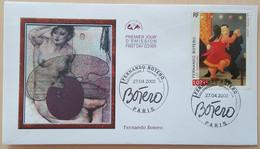 FDC 2002 - YT N°3482 - FERNANDO BOTERO - PARIS - 2000-2009