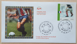 FDC 2002 - YT N°3484 - CHAMPIONS DU MONDE DE FOOTBALL 1998 - PARIS - 2000-2009
