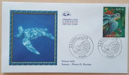 FDC 2002 - YT N°3485 - NATURE DE FRANCE / TORTUE LUTH - PARIS - 2000-2009