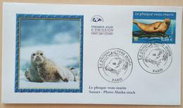 FDC 2002 - YT N°3488 - NATURE DE FRANCE / PHOQUE VEAU MARIN - PARIS - 2000-2009