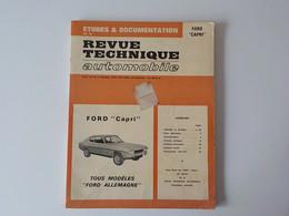1975 Revue Technique Automobile Ford Capri 1300 1500 1700 2000 2300 Boulogne Billancourt Ford Allemagne - Cars
