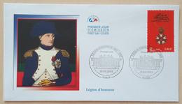 FDC 2002 - YT N°3490 - LEGION D'HONNEUR - PARIS - 2000-2009