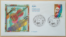FDC 2002 - YT N°3504 - JAZZ / STEPHANE GRAPPELLI - PARIS - 2000-2009