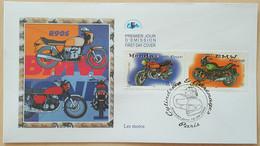 FDC 2002 - YT N°3508, 3513 - COLLECTION JEUNESSE / CYLINDREES & CARENAGES / MOTOS - PARIS - 2000-2009