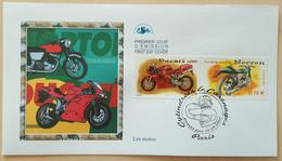 FDC 2002 - YT N°3511, 3516 - COLLECTION JEUNESSE / CYLINDREES & CARENAGES / MOTOS - PARIS - 2000-2009