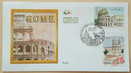 FDC 2002 - YT N°3527, 3529 - CAPITALES EUROPEENNES / ROME - PARIS - 2000-2009