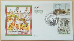 FDC 2002 - YT N°3528, 3530 - CAPITALES EUROPEENNES / ROME - PARIS - 2000-2009