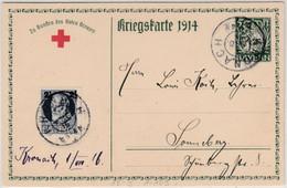 Bayern - 5 Pfg. Hupp Rotes Kreuz Sonder-GA-Karte Kronach - Sonneberg 1.8.16 - Bavaria