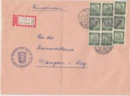 BRD - 9x10 Pfg. Dürer Bedeut. Deutsche Einschreibebrief Bad Waldsee Wangen 1962 - Brieven