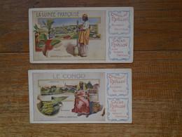 Assez Rare ,  2 Images Pub Chocolat Révillon , La Guinée - Française , Le Congo - Revillon
