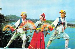 COREE DU NORD North Korea ( Folklore ) Troupe MANSOUDAI ( Danse Par 3 ) CPM GF - ASIE ASIA - Korea, North