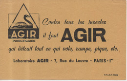 Agir Insecticides Chimie Contre Tous Les Insectes Il Faut Agir Qui Détruit Tout Ce Qui Vole Rampe Pique 7 Rue Du Louvre - A