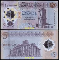 Libya 5 Dinars, (2021), Commemorate, Polymer, UNC - Libia