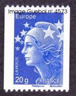 France Marianne De Beaujard N° 4573 ** Roulette De 20 Grammes Gommée, Bleu Pour L'Europe CEE - 2008-13 Marianne Of Beaujard