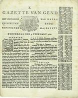 Gand/Gent. Gazette Van GEND. Rare Journal De 3/2/1780. - Unclassified