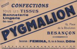 Pygmalion 16 Place De La Révolution Besançon Confections Tous Les Tissus Bonneterie Lingerie Femina Dole - Textile & Clothing