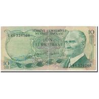Billet, Turquie, 10 Lira, 1970, 1970-01-26, KM:180, B - Turkey