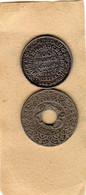 Lot De 2 Piéces De Monnaies Du  Maroc - 100 Francs Argent 1953 Et 25 Centimes 1924 En Cupro-nickel - TTB - Morocco
