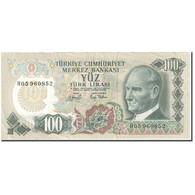 Billet, Turquie, 100 Lira, 1979-1986, Old Date : 14-10-1970 (1979-86)., KM:189a - Turkey