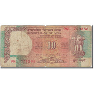 Billet, Inde, 10 Rupees, 1992, Undated (1992), KM:88e, AB - India