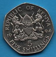 KENYA 5 Shillings 1994 KM# 23a Arap Moi - Kenya