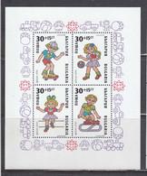Bulgaria 1989 - Children's Games, Mi-Nr. Bl. 207A, Perf., MNH** - Nuevos