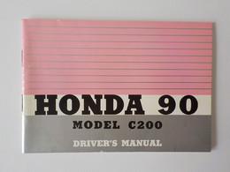 Manuel Informations Moto Mobylette Honda 90 Model C200  Honda 125 Super Sport Honda Power Tiller - Motorfietsen
