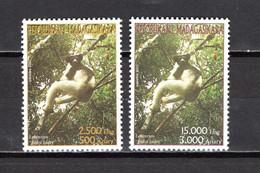 MADAGASCAR N° 1847 à 1848  NEUFS SANS CHARNIERE  COTE 15.00€   LEMURIEN ANIMAUX - Madagascar (1960-...)