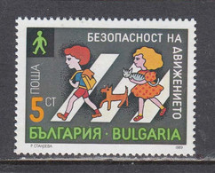 Bulgaria 1989 - Road Safety, Mi-Nr. 3805, MNH** - Nuevos