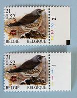 Grive Litorne   Neuf (**)   21 F/0,52€   Pl. 1 Et 2  CPFO - 1985-.. Oiseaux (Buzin)