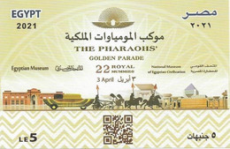 EGYPT- 2021 - THE PHARAOHS' Golden Parade (22 Royal Mummies) 3 April 2021 - Unused Stamps