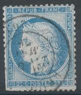 Lot N°60196   Variété/n°60, Oblit Cachet à Date De Broglie, Eure (26), Ind 5, Taches Blanches Face A La B, Gréques OUEST - 1871-1875 Ceres