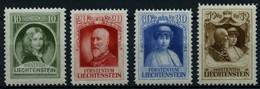 LIECHTENSTEIN 90-93 **, 1929, Regierungsantritt, Prachtsatz, Mi. 90.- - Ohne Zuordnung