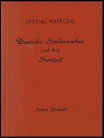 PHIL. LITERATUR Deutsche Sondermarken Und Ihre Stempel - Spezial Katalog, 1961, Franz Drabick, 64 Seiten, Mit Bewertunge - Philatelie Und Postgeschichte
