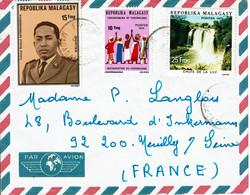 1975 - Madagascar - Lettre Pour La France - Tp N° 550 - 556 - 571 - Madagascar (1960-...)