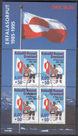 GRÖNLAND  Block 9, Gestempelt, 10 Jahre Grönländische Flagge, 1995 - Blocks & Sheetlets