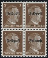 FELDPOSTMARKEN 17z  VB **, 1945, 3 Pf. Ruhrkessel, Senkrechte Gummiriffelung, Im Viererblock, Postfrisch, Pracht, Mi. (2 - Besetzungen 1938-45