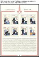 SPORT **,Brief , Olympische Spiele Moskau 1980 In 5 Roten Borek Spezialalben Mit Zahlreichen Guten Werten Und Blocks, Au - Ohne Zuordnung