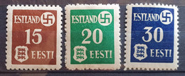 Besetzung ESTLAND 1941, Mi 1-3 MNH Postfrisch - Occupation 1938-45
