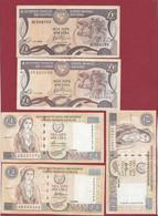 Chypre 5 Billets Dans L 'état - Cyprus