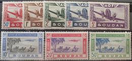 R2452/875 - 1942 - COLONIES FR. - SOUDAN - POSTE AERIENNE - SERIE COMPLETE - N°10 à 17 NEUFS* - Nuovi