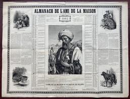 Almanach 60x80 Du Journal Mensuel L'Ami De La Maison. Calendrier 1882. Berger Oriental. - Big : ...-1900