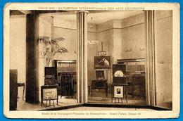 CPA PARIS 1925 EXPOSITION INTERNATIONALE DES ARTS DECORATIFS Stand Compagnie Française Du Gramophone - Esposizioni